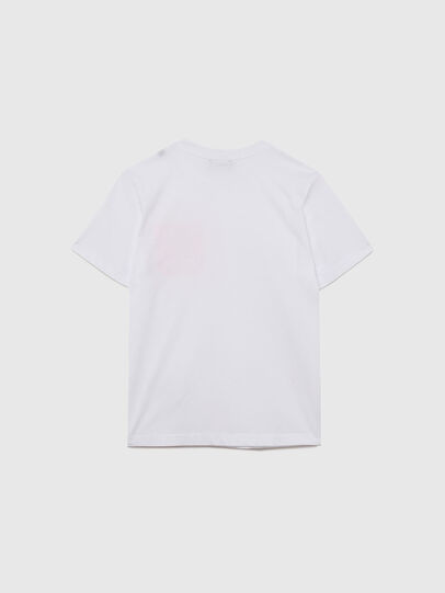 Diesel - TLARS, Bianco/Arancione - T-shirts e Tops - Image 2