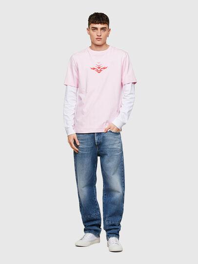 Diesel - T-JUST-E14, Rose Poudré - T-Shirts - Image 4