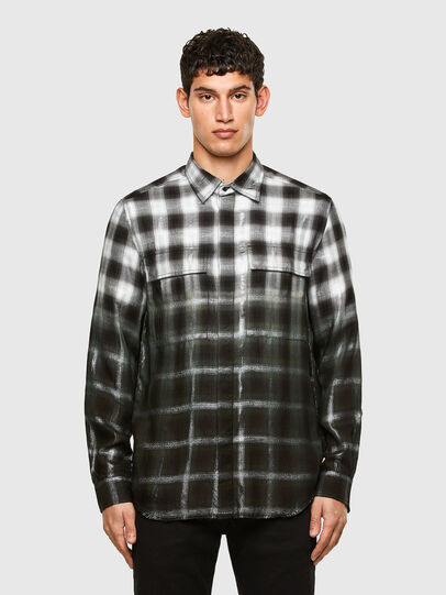 Diesel - S-KEITH, Nero/Bianco - Camicie - Image 1