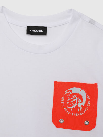 Diesel - TLARS, Bianco/Arancione - T-shirts e Tops - Image 3