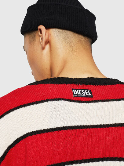 Diesel - K-LOVERY, Rot/Weiß - Strickwaren - Image 6