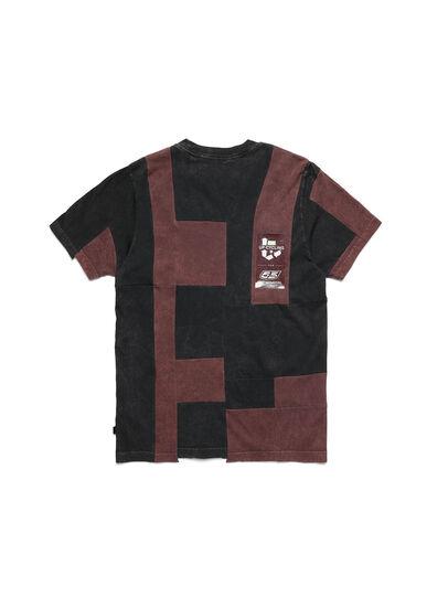 Diesel - D-FRANK&STEIN, Rot/Schwarz - T-Shirts - Image 2