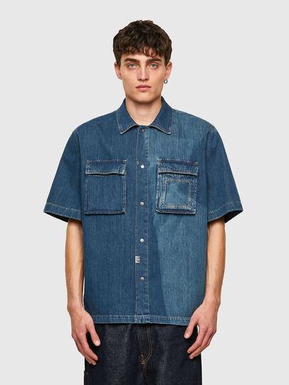Diesel - D-GUNN-SP, Bleu moyen - Chemises en Denim - Image 1