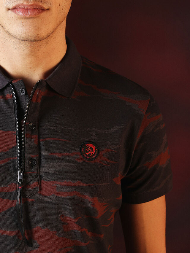 Diesel - DVL-POLO-SPECIAL COLLECTION, Rot/Schwarz - Polohemden - Image 1