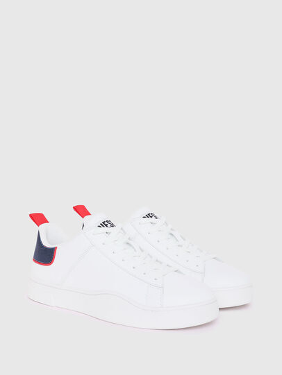 Diesel - S-CLEVER LOW LACE, Blanc/Rouge - Baskets - Image 2
