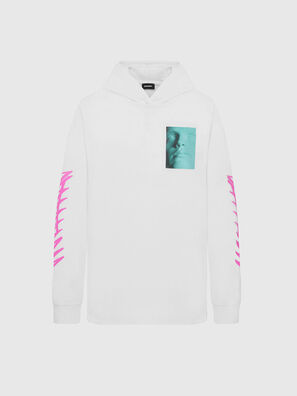 T-JUST-LS-HOOD-X30, Weiß - T-Shirts