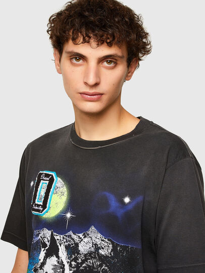 Diesel - T-JUST-A37, Nero - T-Shirts - Image 3