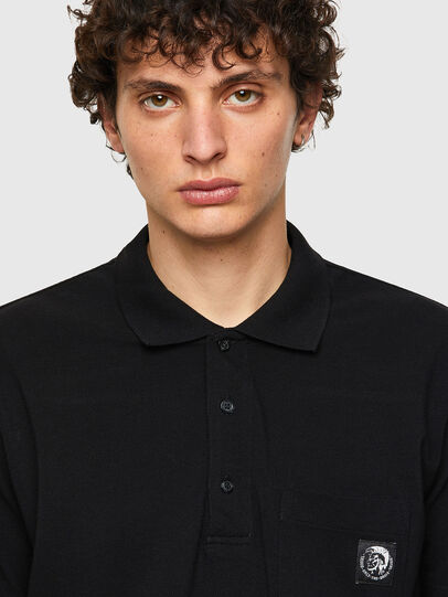 Diesel - T-POLO-WORKY, Noir - Polos - Image 3