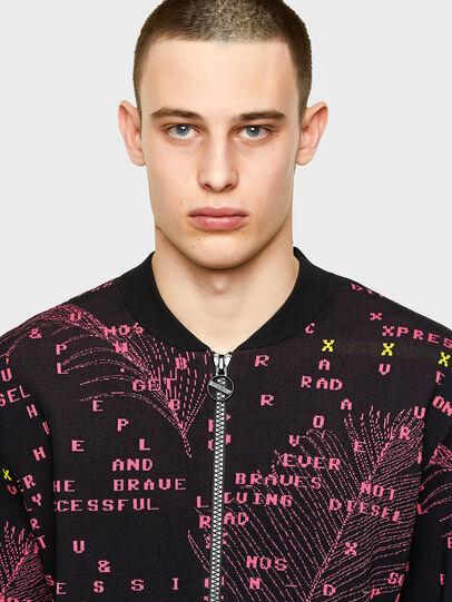 Diesel - K-OREGON, Black/Pink - Knitwear - Image 3