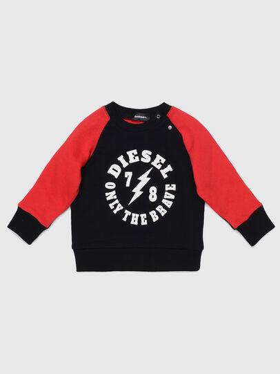 Diesel - STRICKB, Schwarz/Rot - Sweatshirts - Image 1