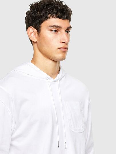 Diesel - T-FONTAL-LS-HOOD, Weiß - T-Shirts - Image 3