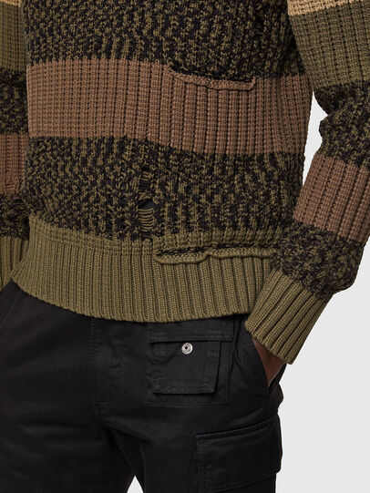 Diesel - K-COBALT, Military Green - Knitwear - Image 3