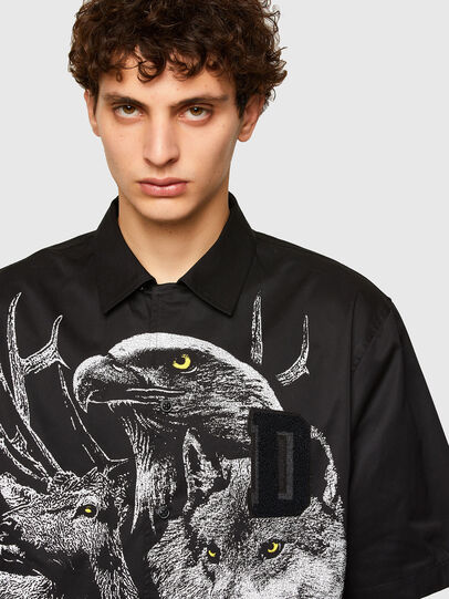 Diesel - S-WOLF, Noir - Chemises - Image 3