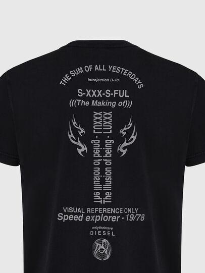 Diesel - T-DIEBIND, Schwarz - T-Shirts - Image 4