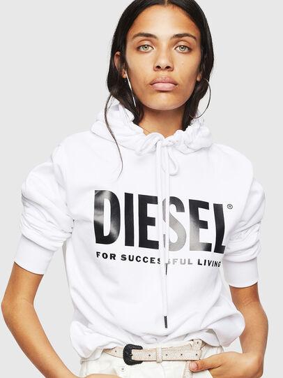 Diesel - F-GIR-HOOD-DIV-LOGO-, Weiß - Sweatshirts - Image 5
