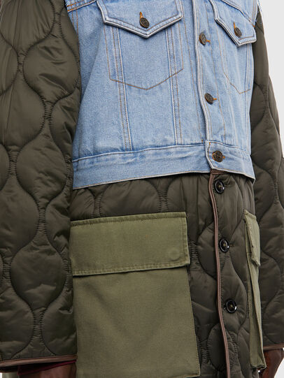 Diesel - W-SHAYL, Verde Militare - Giacche invernali - Image 4