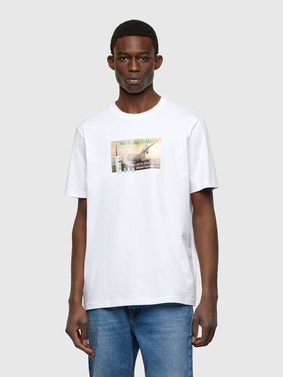 Diesel - T-JUST-A34, Bianco - T-Shirts - Image 1