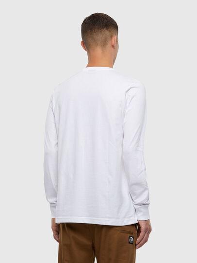 Diesel - T-JUST-LS-X93, Bianco - T-Shirts - Image 2