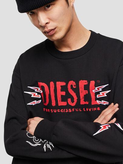 Diesel - CL-SNOR-LITMA, Schwarz - Sweatshirts - Image 4