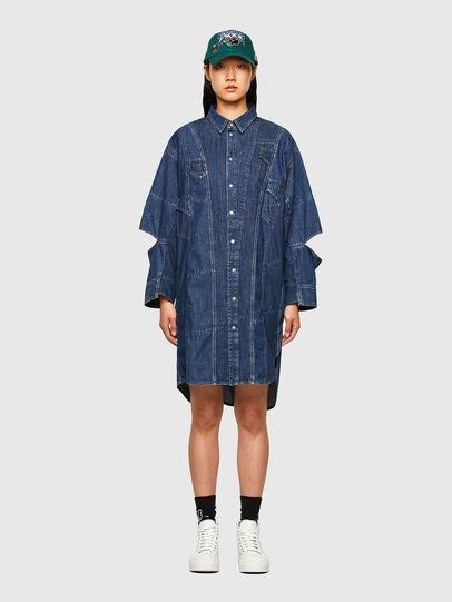 Diesel - CL-DE-BLIV, Bleu Foncé - Robes - Image 1