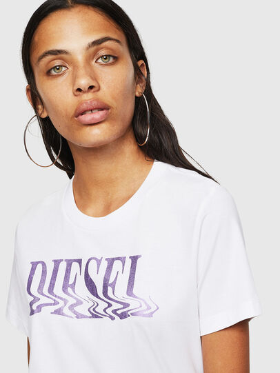 Diesel - T-SILY-WN, Weiß/Rosa - T-Shirts - Image 3