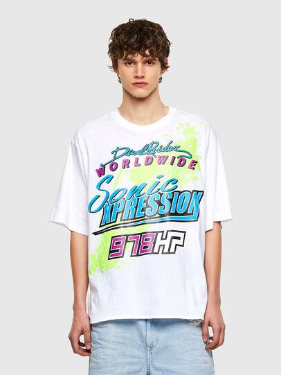 Diesel - T-DELPHONE, Bianco - T-Shirts - Image 1