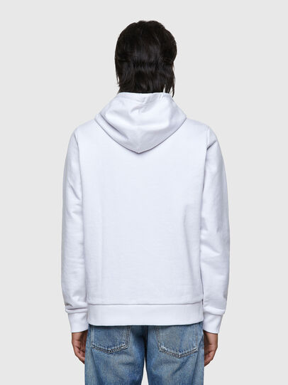 Diesel - S-GIRK-HOOD-ZIP-K1, Blanc - Pull Cotton - Image 2