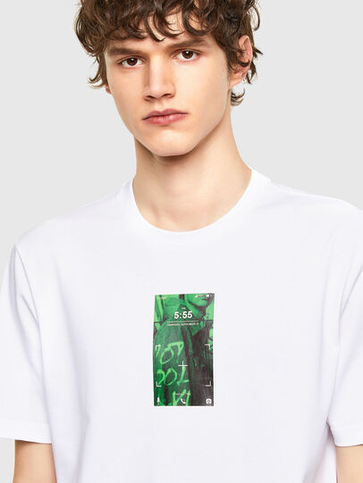 Diesel - T-JUST-E11, Blanc - T-Shirts - Image 3