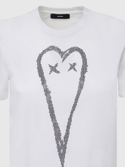 Diesel - T-SILY-E53, Weiß - T-Shirts - Image 3
