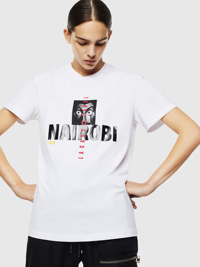 Diesel - LCP-T-DIEGO-NAIROBI, Weiß - T-Shirts - Image 2