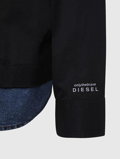Diesel - S-DUSTIN, Schwarz - Hemden - Image 5