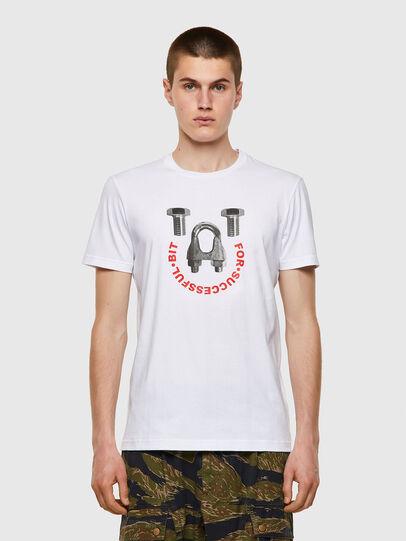 Diesel - T-DIEGOS-B3, Bianco - T-Shirts - Image 1
