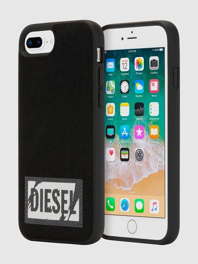 Diesel - BLACK DENIM IPHONE 8 PLUS/7 PLUS/6S PLUS/6 PLUS CASE, Schwarz - Schutzhüllen - Image 1