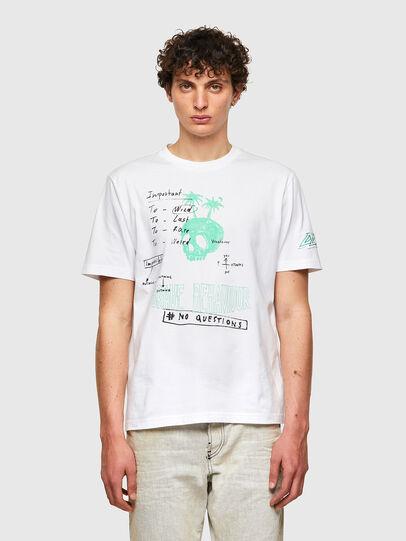 Diesel - T-JUST-B61, Bianco - T-Shirts - Image 1
