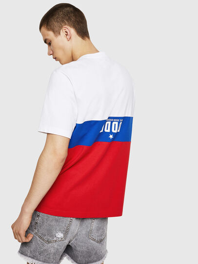Diesel - T-JUST-A1, Weiß/Rot/Blau - T-Shirts - Image 2