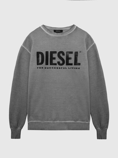 Diesel - S-GIR-DIVISION-LOGO, Grigio scuro - Felpe - Image 1