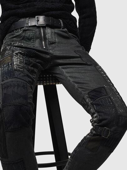 Diesel - D-Strukt 0093P, Schwarz/Dunkelgrau - Jeans - Image 3
