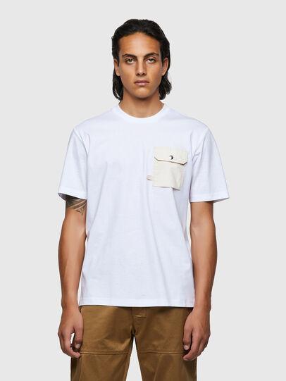 Diesel - T-JUSMER, Blanc - T-Shirts - Image 1