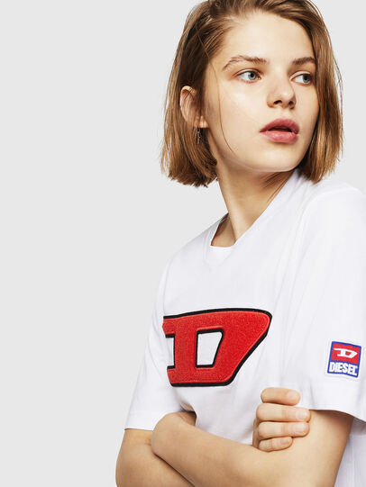 Diesel - T-JUST-DIVISION-D-FL, Weiß - T-Shirts - Image 3