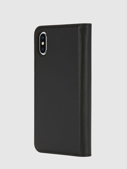 Diesel - SLIM LEATHER FOLIO IPHONE X, Schwarz - Klappcover - Image 3