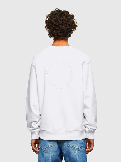 Diesel - S-GIRK-A73, Blanc - Pull Cotton - Image 2