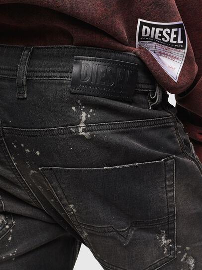 Diesel - Krooley JoggJeans 084AE, Schwarz/Dunkelgrau - Jeans - Image 5