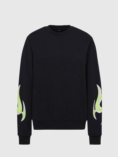 Diesel - F-ANG-E1, Schwarz - Sweatshirts - Image 1