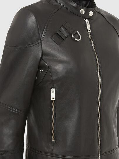 Diesel - L-SUZA, Nero - Giacche di pelle - Image 4