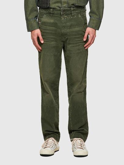 Diesel - D-Azerr JoggJeans® 069WH, Verde Militare - Jeans - Image 1