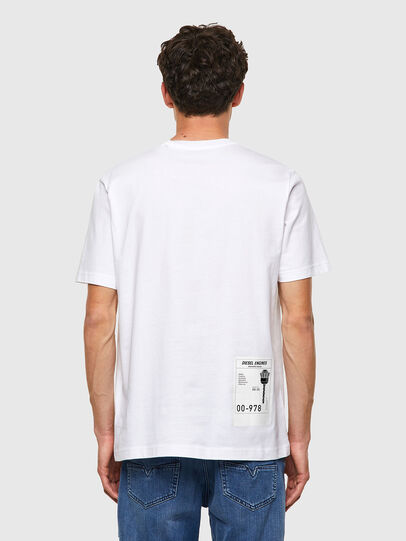 Diesel - T-JUST-B62, Weiß - T-Shirts - Image 2
