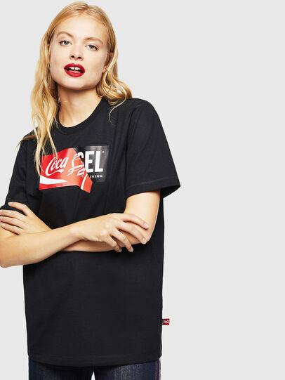 Diesel - CC-T-JUST-COLA, Schwarz - T-Shirts - Image 2