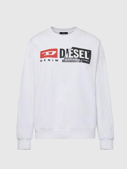 Diesel - F-ANG-CUTY, Weiß - Sweatshirts - Image 1