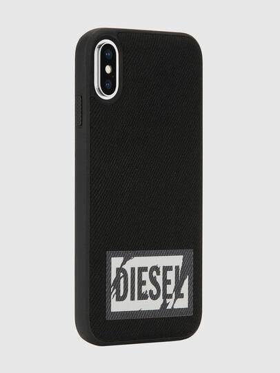 Diesel - BLACK DENIM IPHONE X CASE, Schwarz - Schutzhüllen - Image 6
