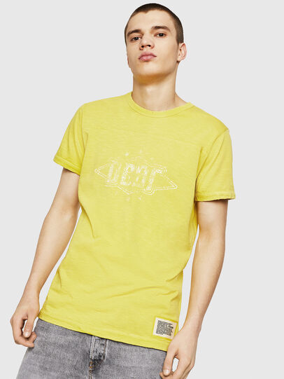 Diesel - T-DIEGO-CUT-A, Gelb - T-Shirts - Image 1